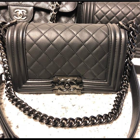 26555d9c3978 CHANEL Bags | So Black Boy Bag | Poshmark